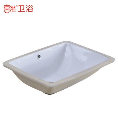 欧式洗手盆陶瓷台下盆嵌入式石下盆椭圆形洗脸盆洗漱艺术盆洗面盆圆形