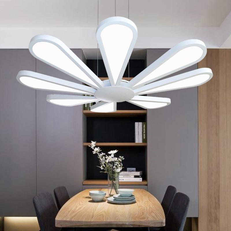 歐蒂蔓 led客廳吊燈扇形現代簡約創意餐廳臥室個性亞克力燈具燈飾