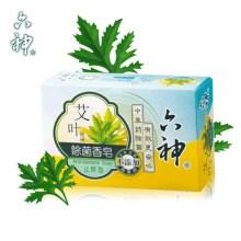 【5盒装】六神艾叶除菌香皂(止痒型)125g沐浴皂洗手皂洗内衣