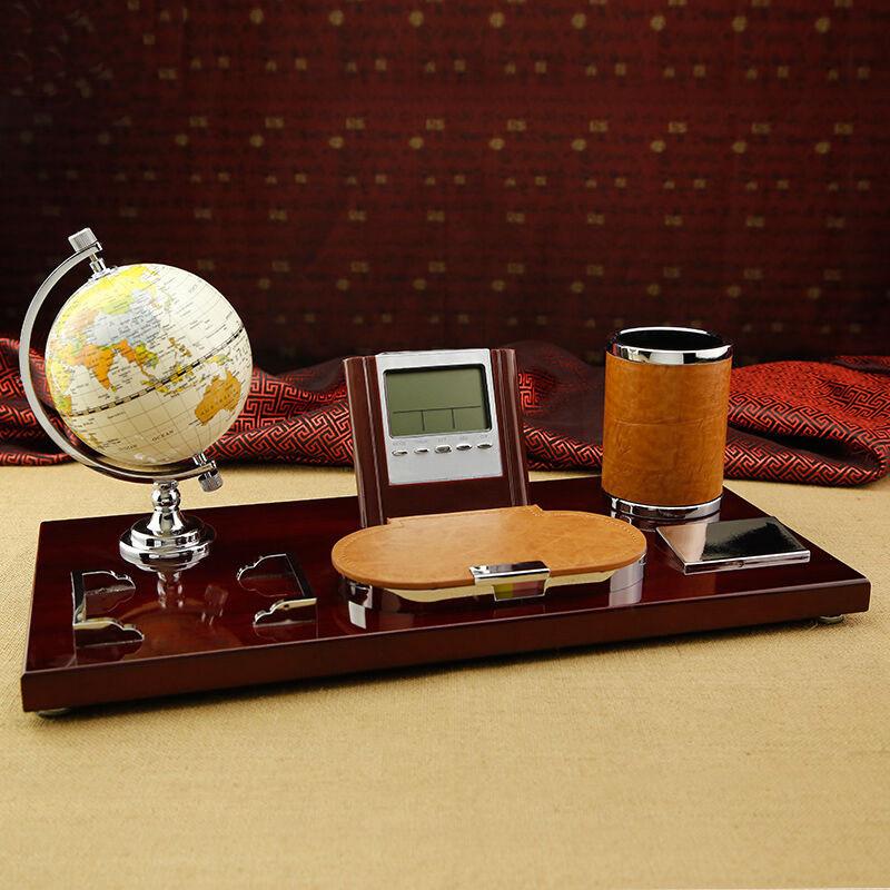 吟秀 桌面装饰品创意办公桌摆件 领导办公室摆件笔筒台历架商务礼品图片