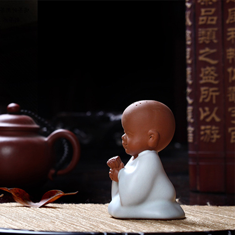 陶瓷小和尚茶宠摆件工艺品