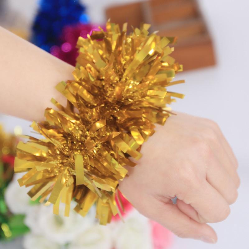 吟秀 婚庆六一儿童节幼儿园舞蹈表演手腕花跳舞装饰道具手花手环花