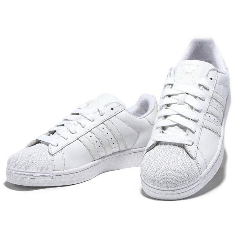 阿迪达斯adidas superstar三叶草经典贝壳头情侣板鞋休闲鞋