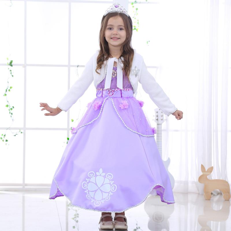 尚誓 圣诞节索菲亚公主裙女童长发公主连衣裙苏非亚公主装礼服表演