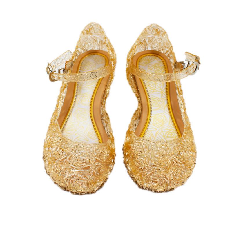 尚誓 冰雪奇缘鞋子frozen艾莎水晶鞋灰姑娘女童公主鞋