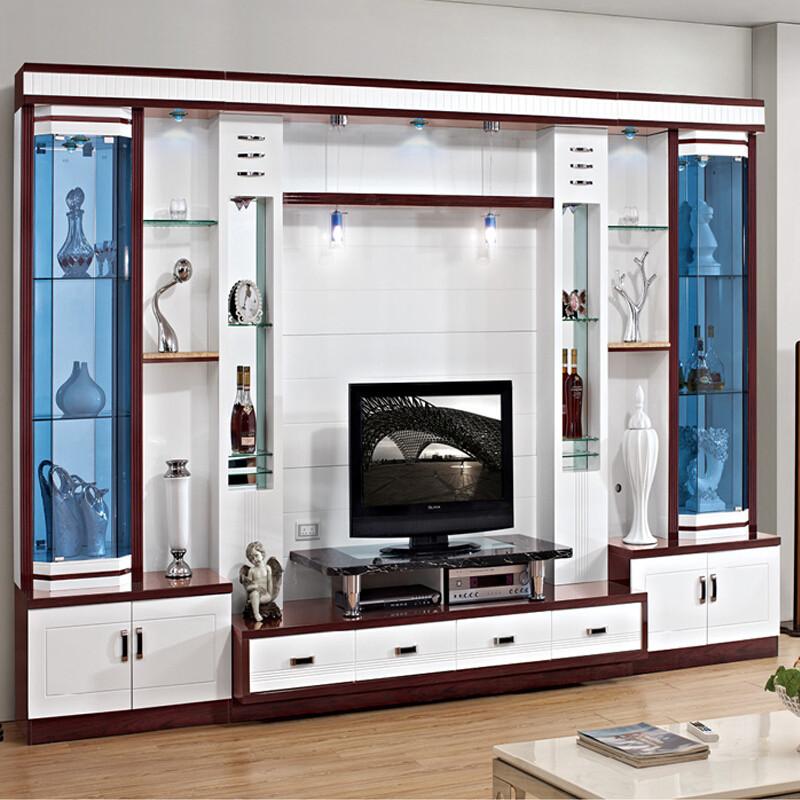 伊莱菲尔 电视柜影视柜客厅背景墙柜 酒柜组合柜大户型电视墙柜3.
