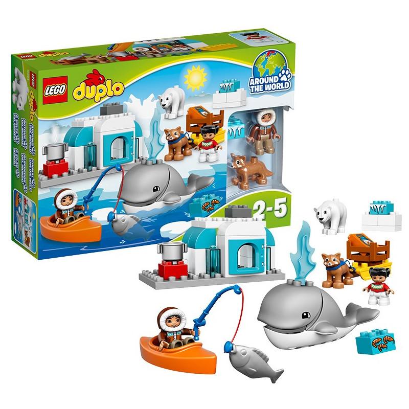 乐高lego益智拼插积木男孩玩具礼物德宝大颗粒北极动物10803