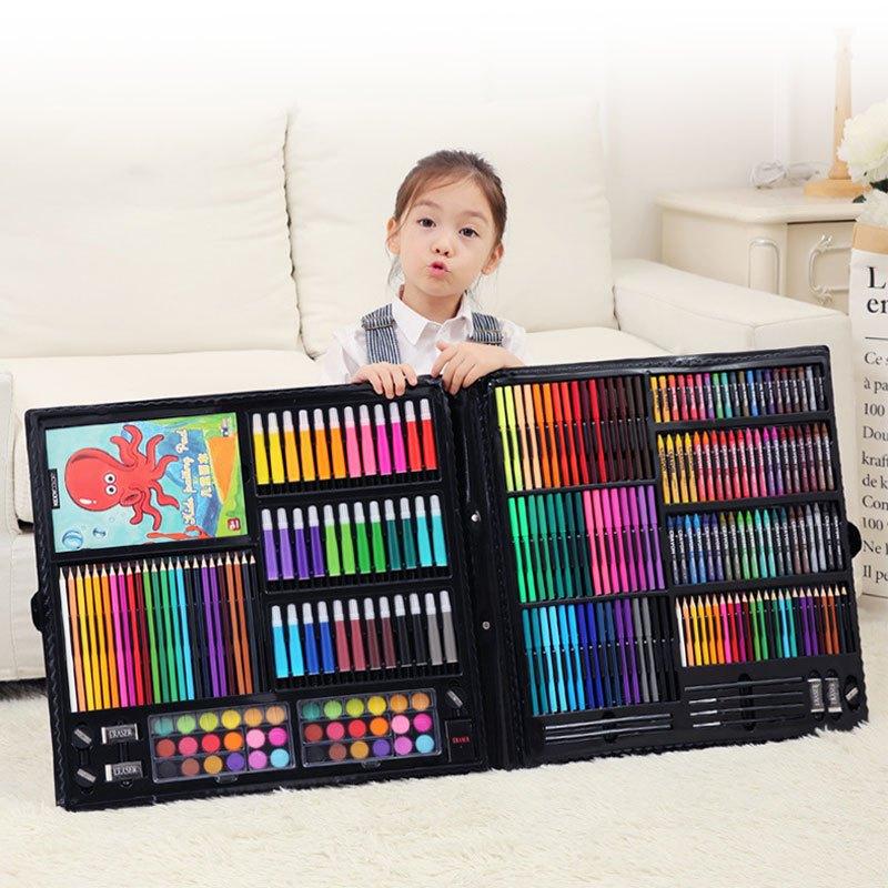 聪乐美儿童画画套装彩笔小学生礼物女美术用品工具水彩笔绘画笔套装