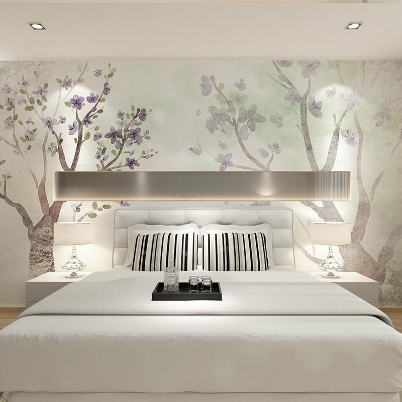 抽象树床头背景墙壁画