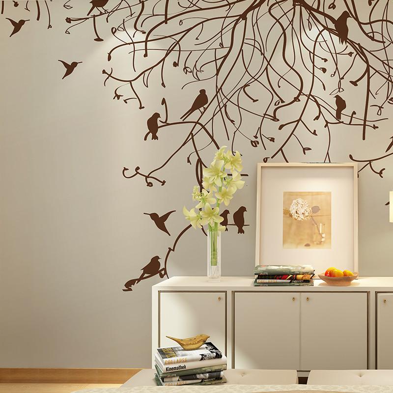 卡茵 现代简约背景墙壁画 北欧美式风格客厅卧室沙发墙壁纸 影视墙图片
