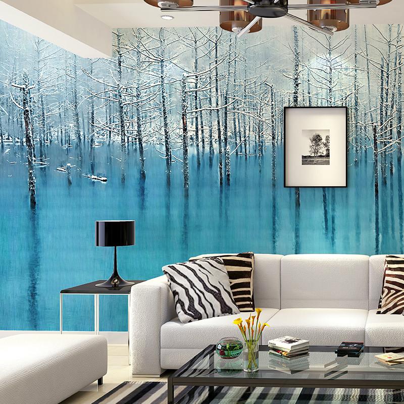卡茵 欧式油画树林背景墙壁画 定制客厅卧室影视墙壁纸 沙发墙装饰画