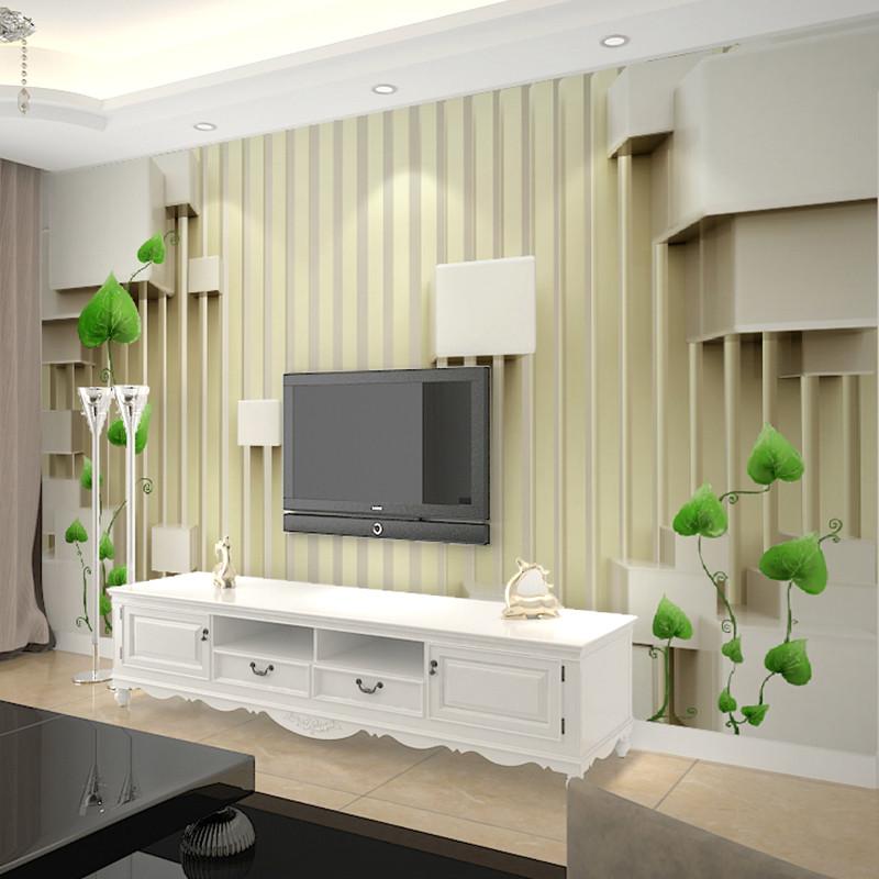 卡茵 现代简约客厅电视背景墙壁纸3d无纺布壁画欧式墙纸影视墙整张
