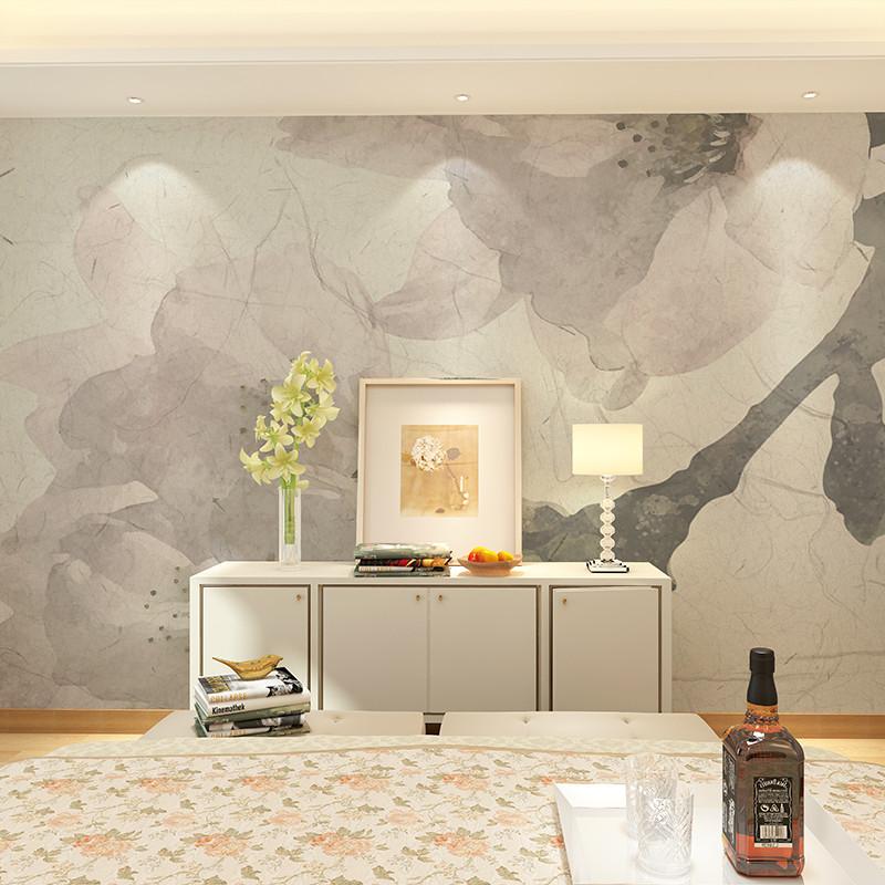 复古美式花卉定制整张无缝墙纸 客厅沙发背景墙壁画 床头手绘创意壁纸图片