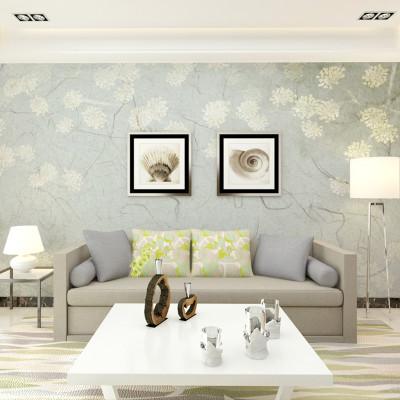 卡茵 定制美式复古花卉墙纸 客厅电视背景墙壁画 沙发墙壁纸 卧室影视图片