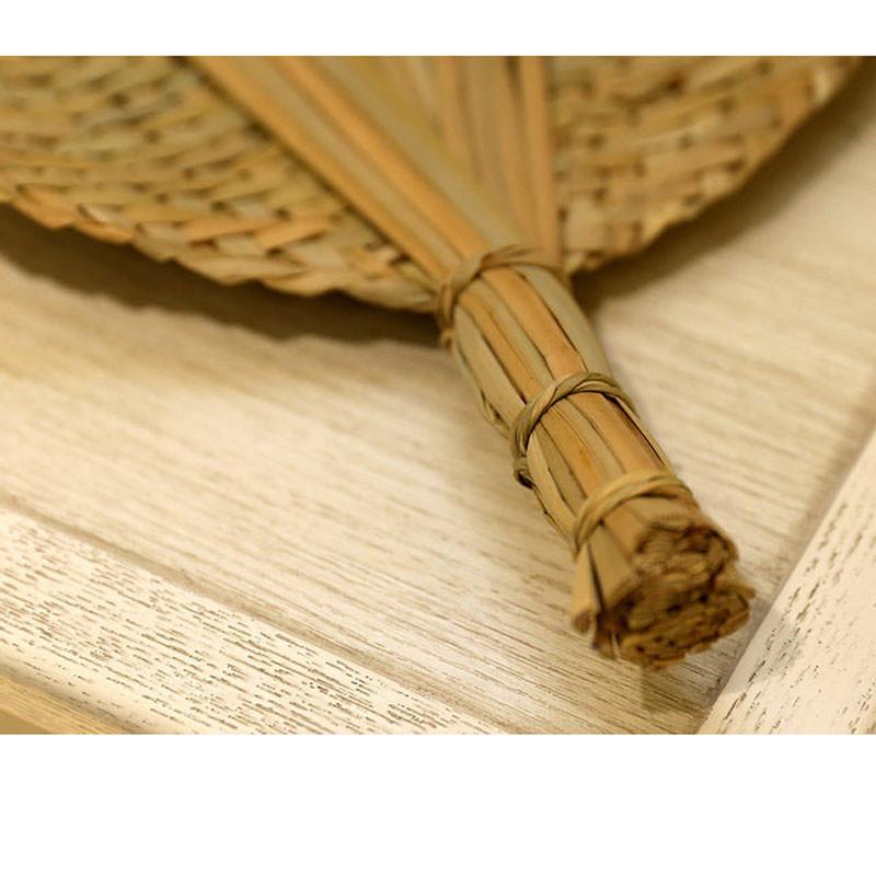 草编扇子手工编织蒲扇礼品工艺品扇子夏季清凉风大圆形扇子蒲草编织