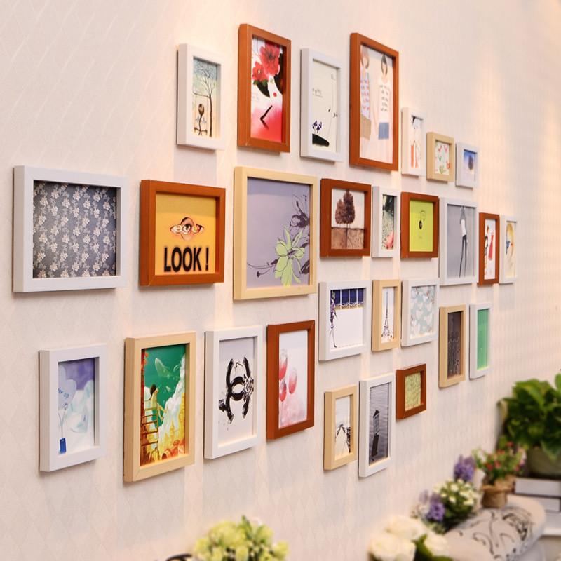 照片墙 相框墙 欧式相框挂墙组合 心形相片墙 有框壁画 墙上挂画 墙壁