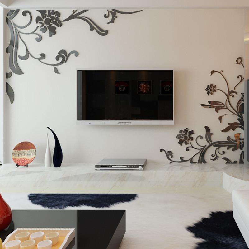墙贴 装饰贴 自粘立体贴贴画 亚克力立体墙贴 客厅卧室电视背景墙房间