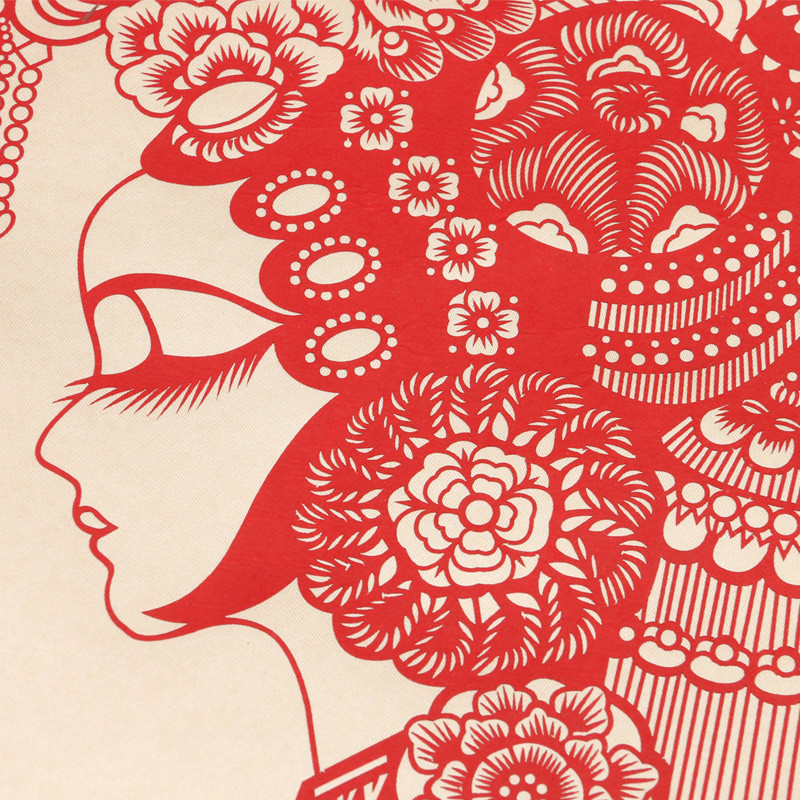 画 卷轴画 手工剪纸 丝绸剪纸画 装饰画 特色礼品送老外 工艺品-寿