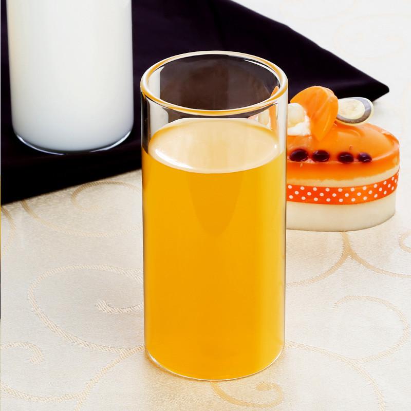 简约玻璃杯套装创意果汁杯圆形杯子耐热家用带把茶杯多彩透明水杯图片