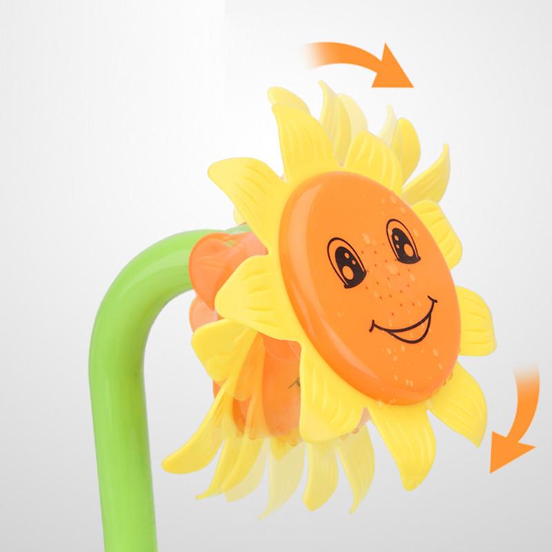 向日葵花洒婴儿洗澡戏水玩具儿童水上玩水喷水宝宝沐浴玩具-洗澡花洒1