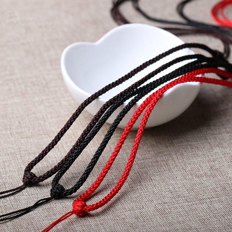 玉佩挂绳子手编绳吊坠绳男女款玉佛观音手工项链绳子编织红绳-新款