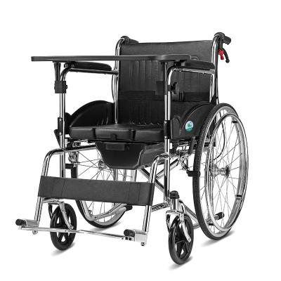 券减100】可孚轮椅多功能折叠轮椅车轻便折叠带坐便便携式普通轮椅【赠便盆餐桌板】老年人老人残疾人手推代步车Cofoe
