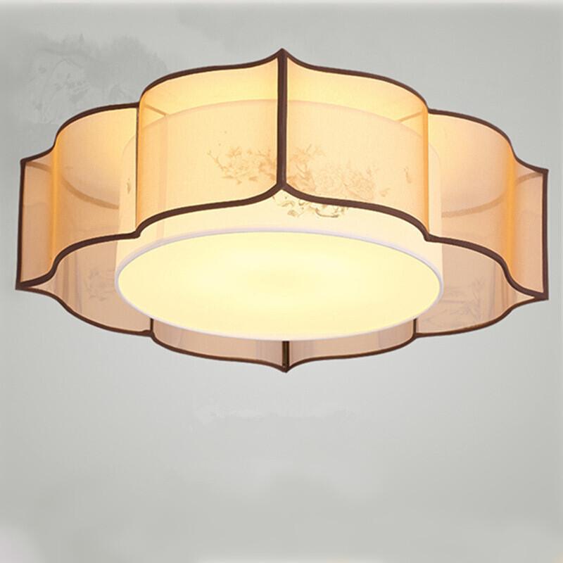 客厅灯圆形灯简约现代书房酒店餐厅灯饰个性复古茶楼包厢走廊过道灯具