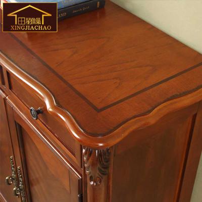 纯实木鞋柜进口橡胶木鞋柜实木边柜玄关柜厅柜现代美式现代家具 板栗