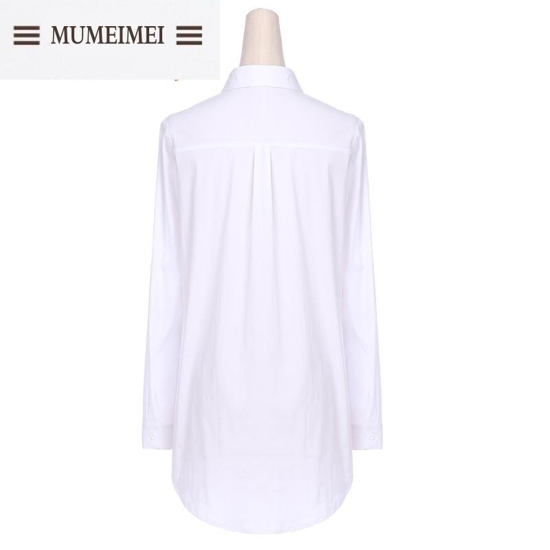 mum2016秋季新款纯白百搭长袖衬衫连衣裙图片