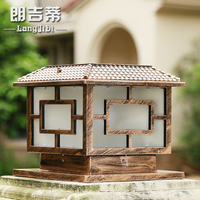 朗吉蒂太阳能柱头灯围墙灯门柱灯欧式led别墅家用