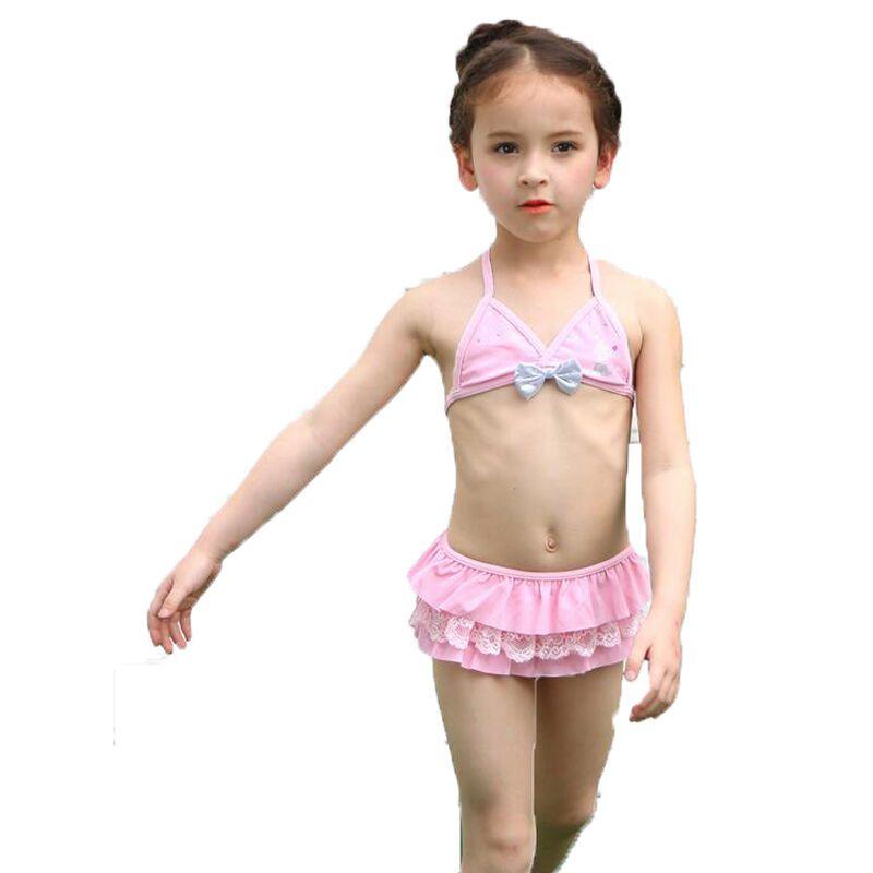 泳衣三件套游泳装小孩子宝宝女童比基尼公主游泳衣