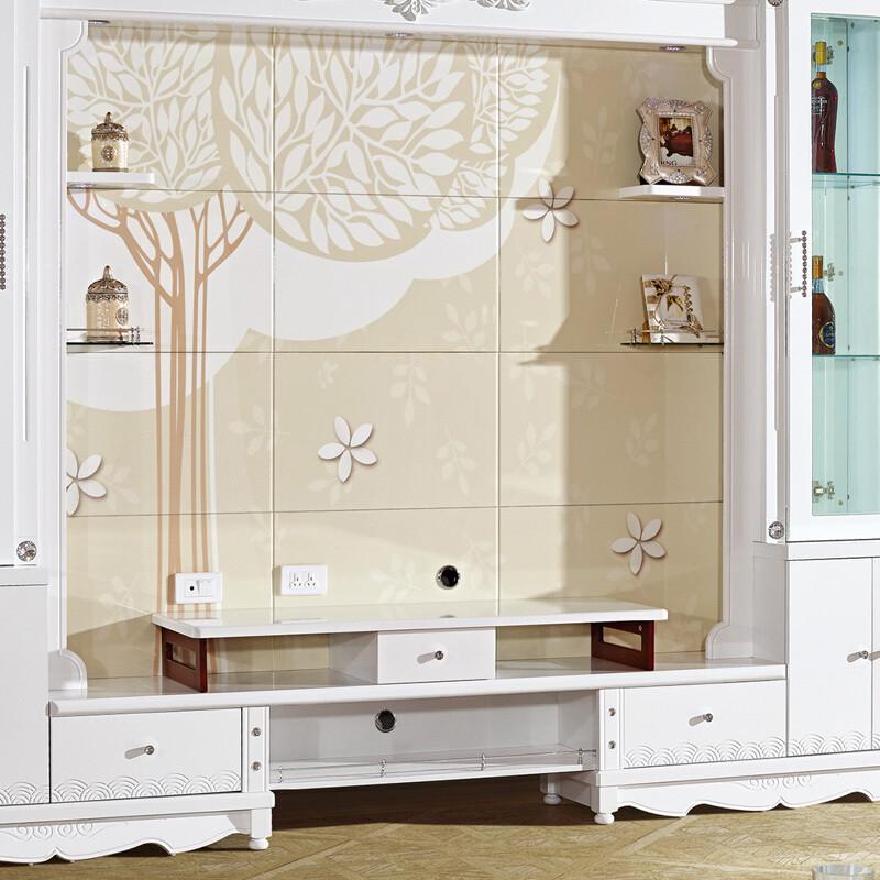 琪幻 欧式电视柜背景墙柜影视柜酒柜组合柜3d印花烤漆