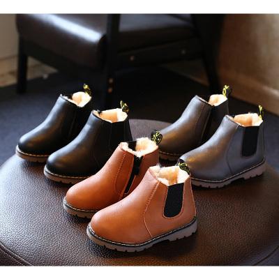 兒童馬丁靴冬男童棉鞋兒童雪地靴寶寶鞋女童靴子短靴加棉皮靴