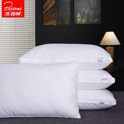 北極絨(Bejirog)家紡 羽絲絨枕頭枕芯成人護頸椎可水洗枕心48x74cm單人學生纖維助眠枕