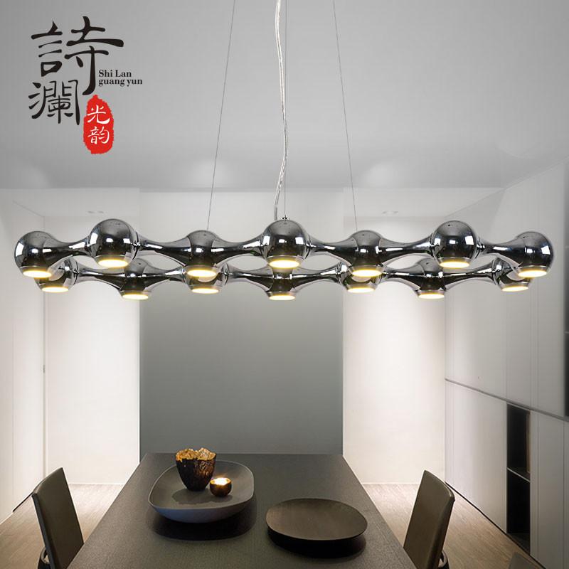北欧极简个性创意led吊灯 餐厅咖啡厅吧台办公会议室图片