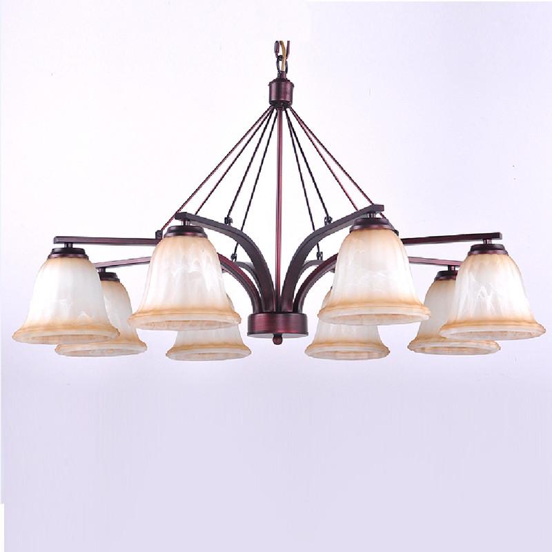 海斯锐 美式吊灯欧式客厅吊灯具北欧复古铁艺乡村田园灯饰吊灯套餐
