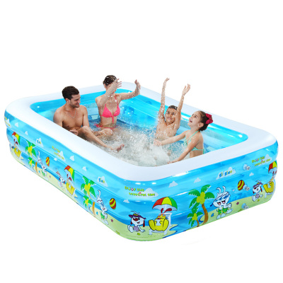 諾澳大型家庭充氣游泳池親子海洋球池嬰兒兒童寶寶戲水池150*108*51三環豪華