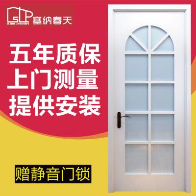 塞纳春天木门室内门实木复合烤漆推拉门玻璃门厨房卫生间门 型号220厨卫款