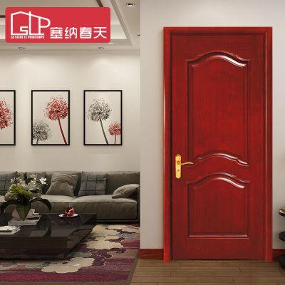 塞納春天實木門造型門室內套裝門實木烤漆房門臥室門 型號043