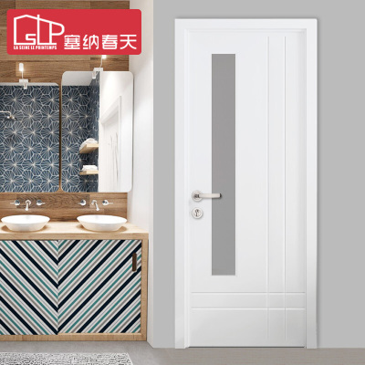 塞纳春天定制木门 房门室内门套装门实木复合烤漆门玻璃门厨房卫生间门型号100
