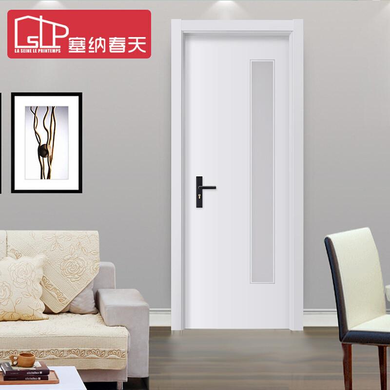 塞纳春天木门 定制房门卫生间门厨卫门室内门玻璃门a29