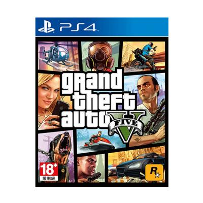 索尼(SONY)PS4 Slim Pro 正版游戏软件 实体光盘 侠盗 GTA5 猎车手5 三男一狗 中文