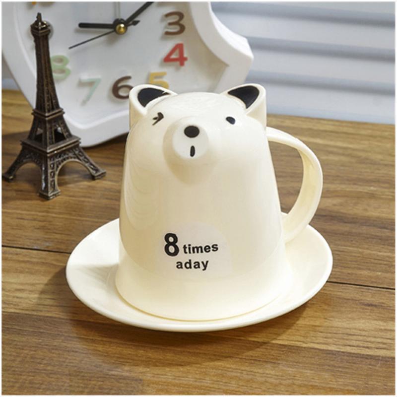 振兴 家居用品 小动物杯碟套装 喝水杯 杯子套装 带碟