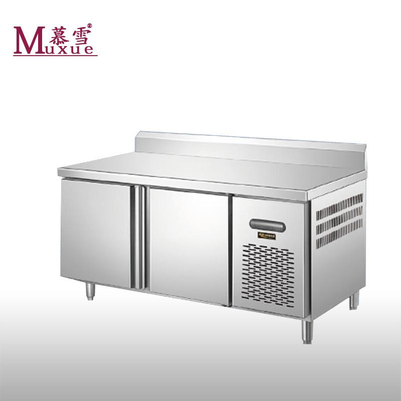 8米操作台冷柜 厨房工作台冰箱 商用卧式冰柜 不锈钢雪柜 酒店厨房图片