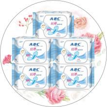 ABC丝薄棉柔护垫普通流量型163mm22片*5包