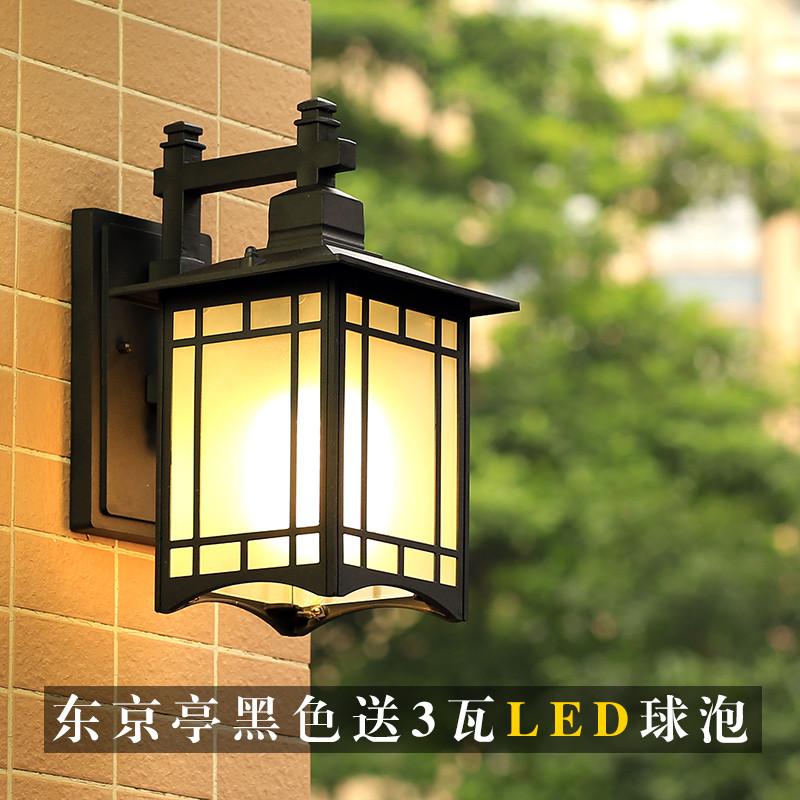 阳台壁灯欧式防水复古户外壁灯中式走廊过道室外简约墙壁灯庭院灯图片
