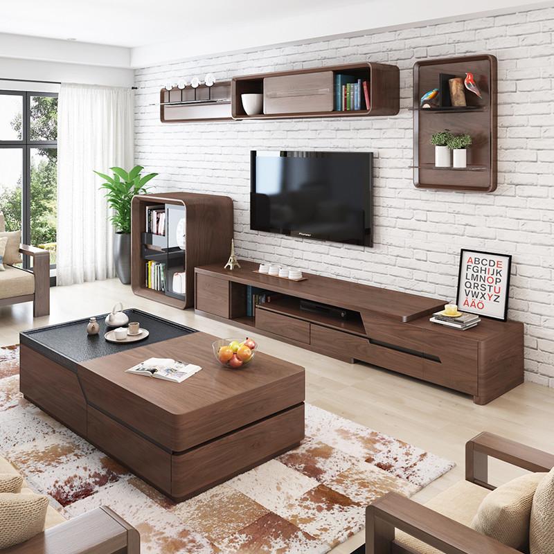 乐私 电视柜 简约北欧电视柜茶几组合 简约图片