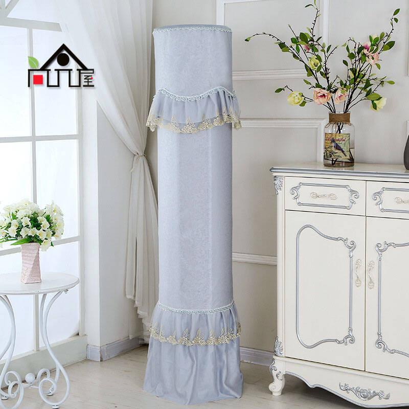 尚品屋格力海尔科龙海信美的立式圆柱空调罩柜机圆形防尘罩空调套冰丝图片