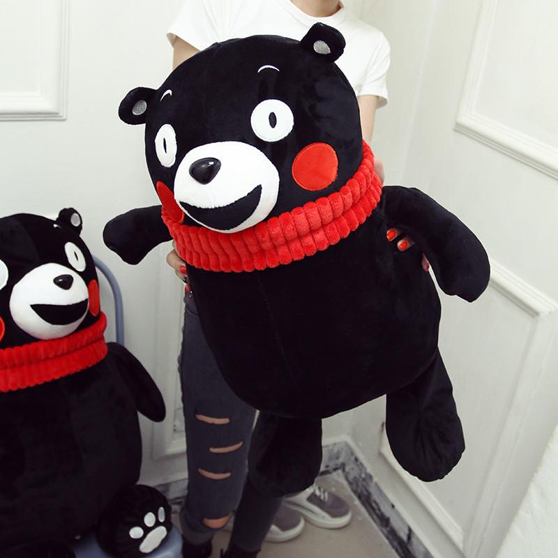 百莉公主熊本熊毛绒玩具55cm日本黑熊公仔玩偶创意布娃娃抱枕新款儿童