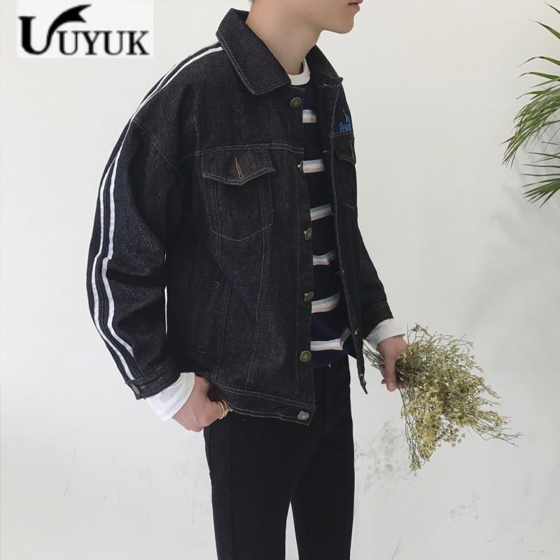 uyuk2017春秋季新款牛仔褂子韩版日系外套男青少年帅气夹克潮学生外衣图片
